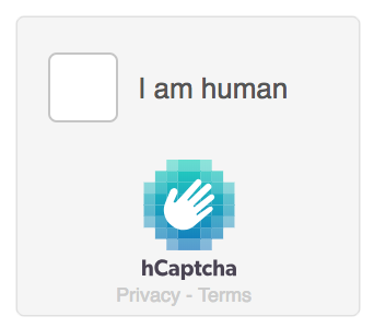 hCaptcha compact theme example.